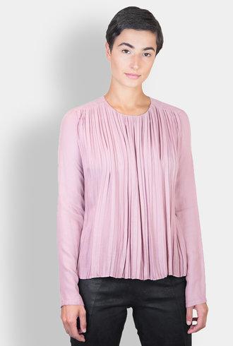 Pomandere Pleated Blouse Blush