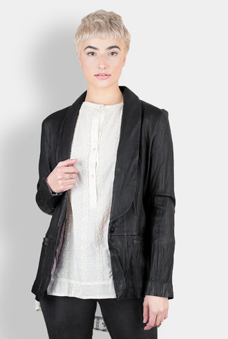 Burning Torch Washed Leather Blazer