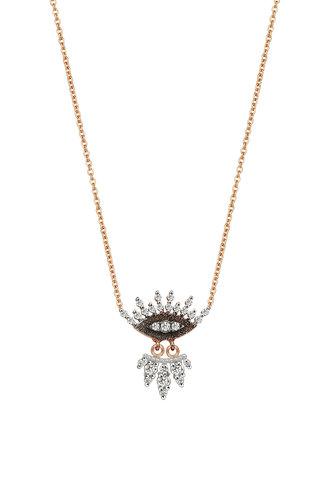 KISMET by Milka 10th Eye Regina Necklace with White Diamond