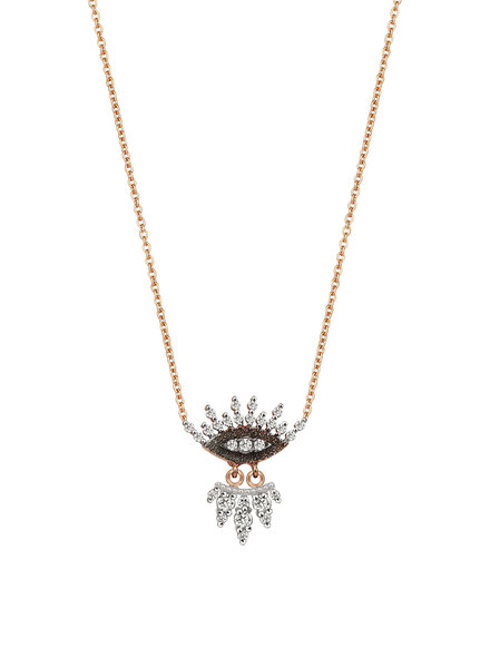 KISMET by Milka 10th Eye Regina Necklace with White Diamond