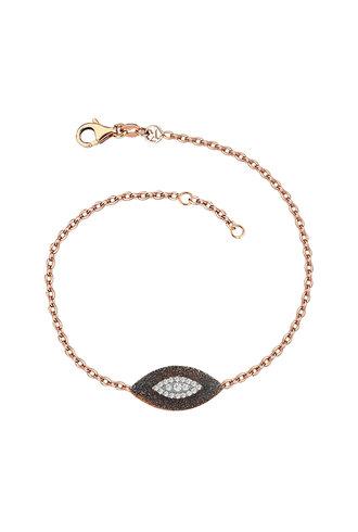 KISMET by Milka 10th Big Eye Haven Bracelet in White Diamond