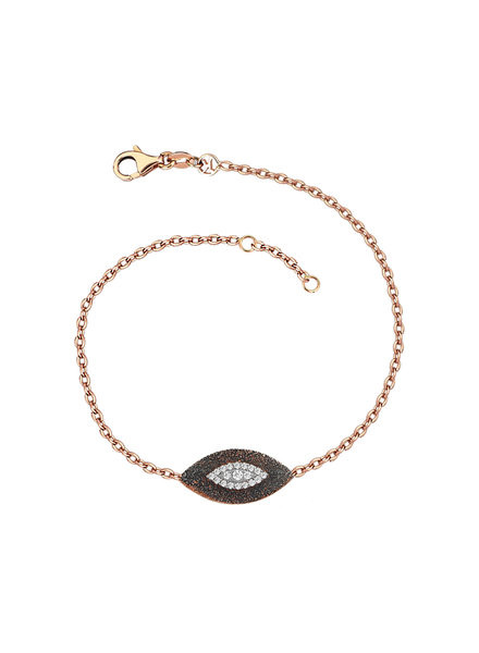KISMET by Milka 10th Big Eye Haven Bracelet in White Diamond
