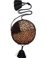 Ulla Johnson Afia Crossbody Bag Leopard Patchwork