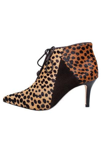 Ulla Johnson Mia Bootie Leopard Calf Hair
