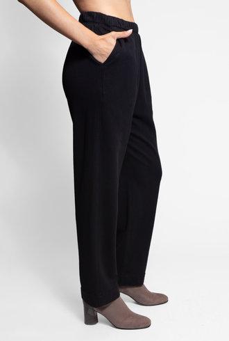Raquel Allegra Fleece Ankle Pant Black