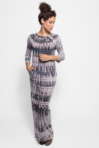 Raquel Allegra 1/2 Sleeve Caftan Dress Mercury Tie Dye