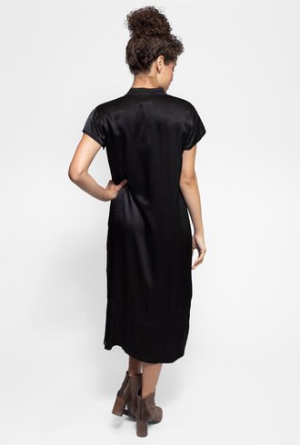 Raquel Allegra Mandarin Dress Black