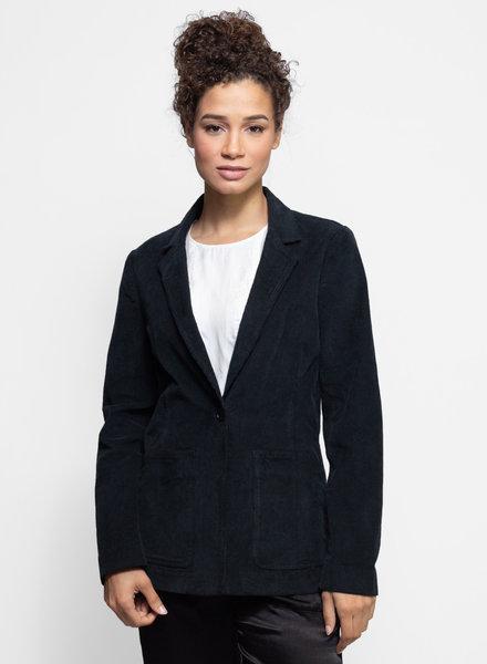 Raquel Allegra Corduroy Tailored Blazer Black