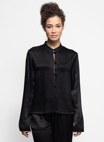 Raquel Allegra Mandarin Jacket Black