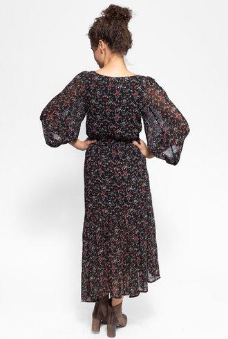 Apiece Apart Bougainvillea Wrap Dress Brush Print