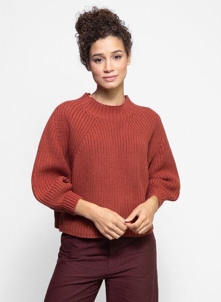 Apiece Apart Merel Funnel Neck Sweater Copper