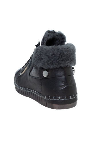 Andia Fora Raset Wedge Sneaker Alfa Mont Vernice Nero