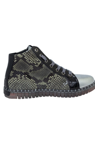 Andia Fora Raset Wedge Sneaker Anthracite Military