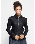 Burning Torch Washed Leather Jacket Black