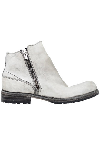 Shoto Double Zip Boots Napa Bianco Fumo