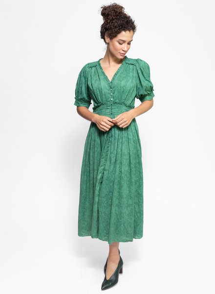 The Great The Alder Dress Bottle Green