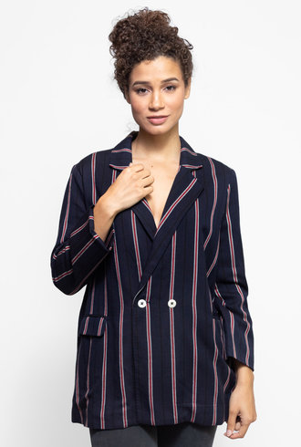 The Great The Academy Blazer Oxford Stripe