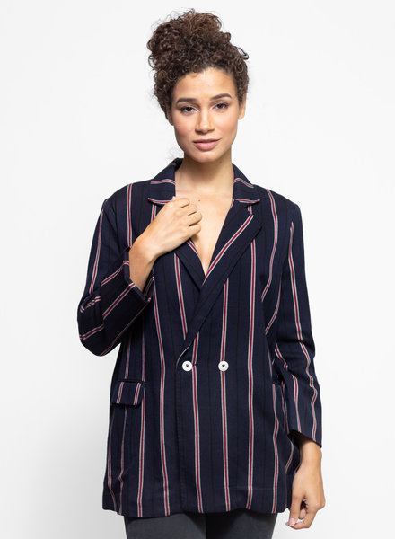 The Great The Academy Blazer Oxford Stripe