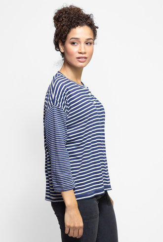 The Great The Shrunken Henley College Stripe Mix