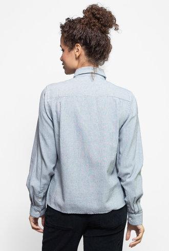 Trovata Beth Safari Shirt Navy White Stripe