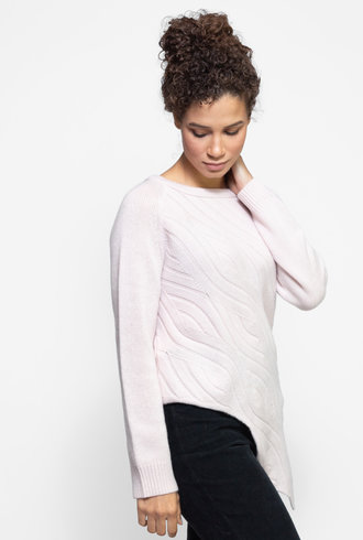Inhabit Abstract Cable Sweater Posy