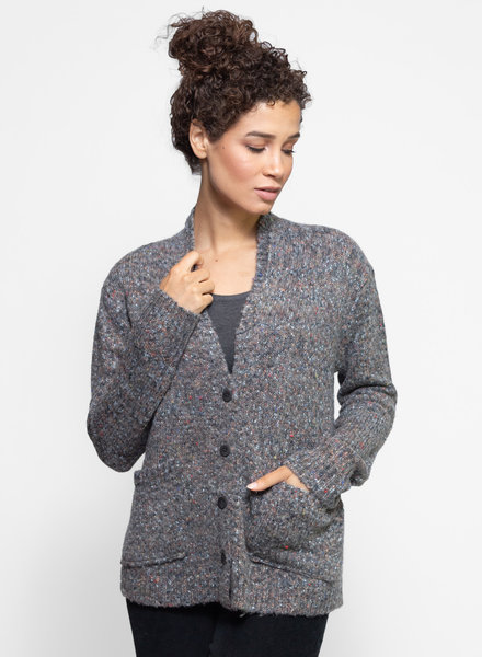 Inhabit Tweed Cardigan Steel