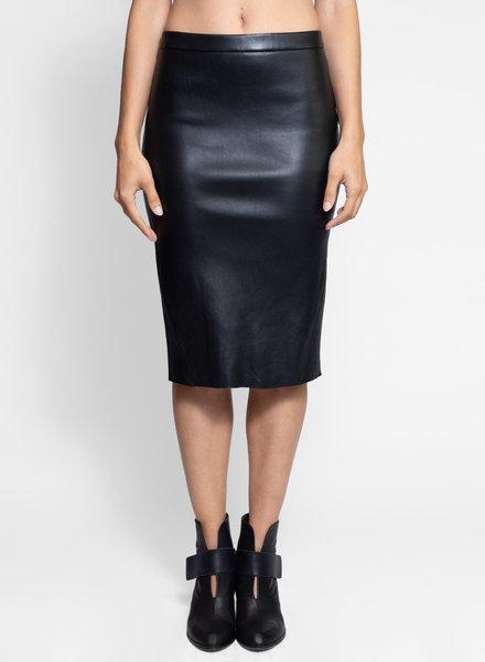 Avana Leather Pencil Skirt Black