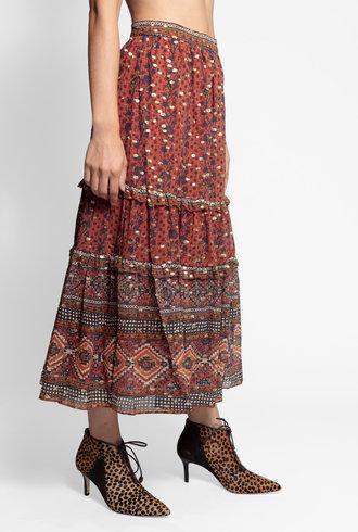 Ulla Johnson Thea Skirt Brick