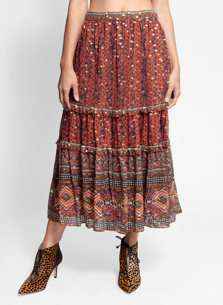 Ulla Johnson Thea Skirt Brick