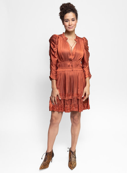 Ulla Johnson Luisa Dress Rust