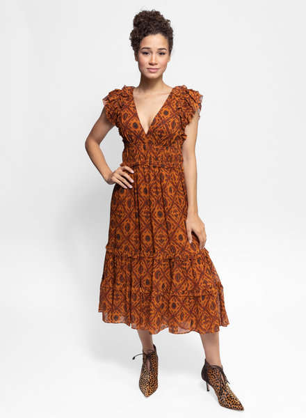 Ulla Johnson Anika Dress Ochre