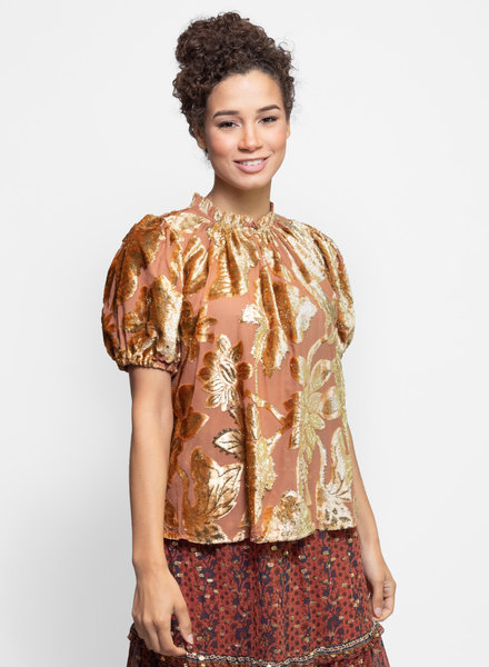 Ulla Johnson Paola Top Rose Gold