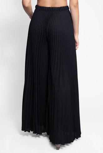 Loyd/Ford Wide Leg Pleated Pant Black