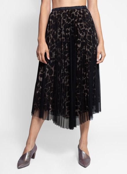 Loyd/Ford Two Layer Mesh Skirt Animal Print Black