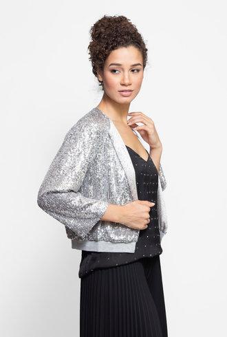 Loyd/Ford Sequin Cardigan Silver