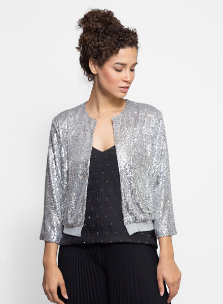 Loyd/Ford Sequin Cardigan Silver