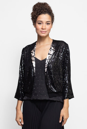 Loyd/Ford Sequin Cardigan Black