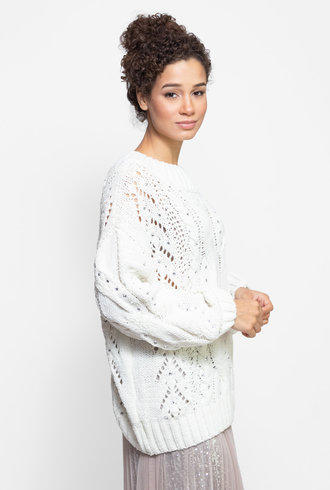 Loyd/Ford Crystal Pullover Sweater Natural