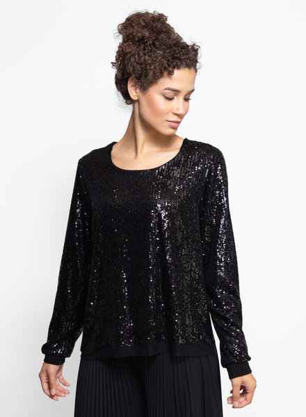 Loyd/Ford Sequin Sweater Black