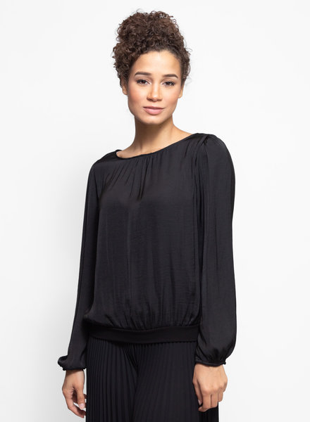 Loyd/Ford Long Sleeve Top with Knit Trim Black