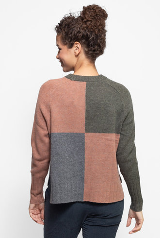 360 Sweater Hailey Sweater Olive / Toffee / Grey