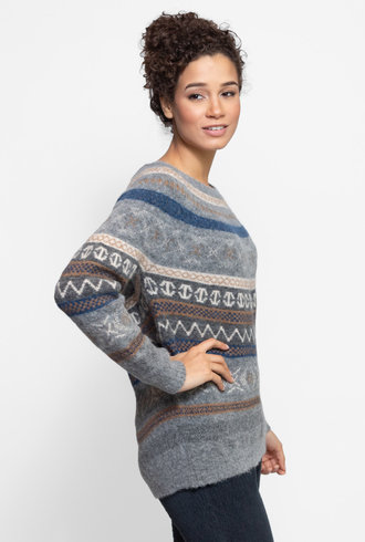 Local Rafeala Sweater Grey Fantasy