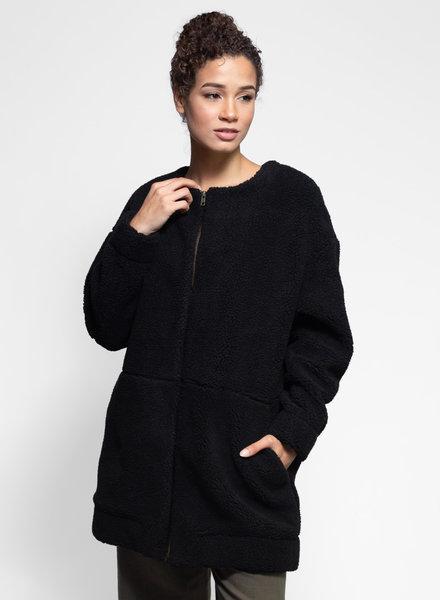 Apiece Apart Isola Faux Fur Coat Black