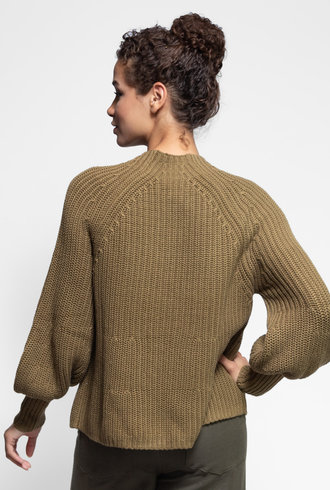 Apiece Apart Sequoia Mock Neck Sweater Moss