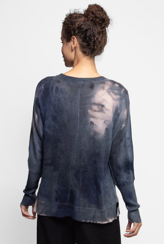 MA+CH Poncho Pullover Sweater Wisp Midnight