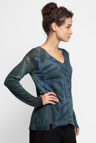 MA+CH Hi Lo V-Neck Sweater Ashbury Mineral