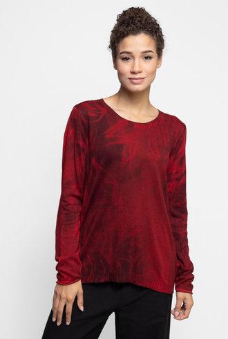 MA+CH Easy Crew Sweater Wisp Wine