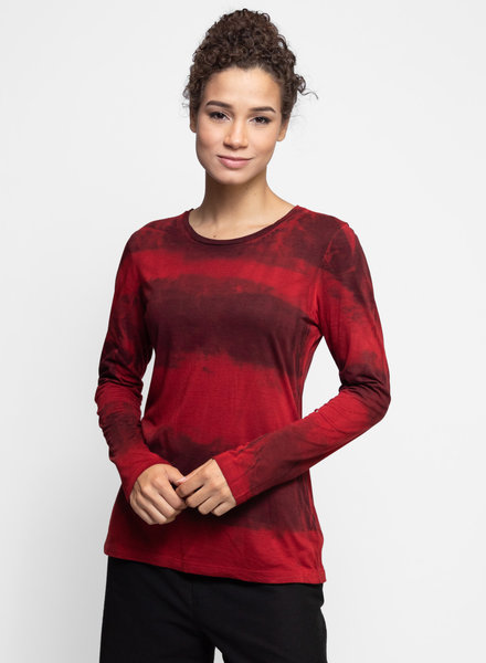 MA+CH Long Sleeve Classic Crew Landscape Wine