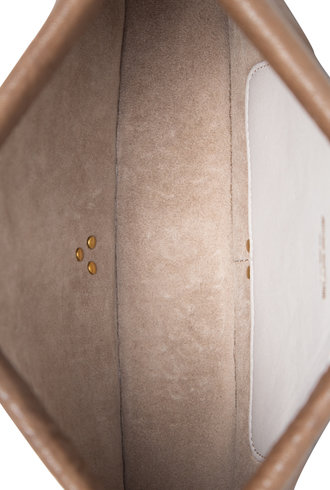 Jerome Dreyfuss Clic Clac Clutch L Bubble Lambskin Bronze
