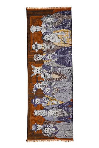 Inouitoosh Fraternite Scarf Caramel Blue / Bleu